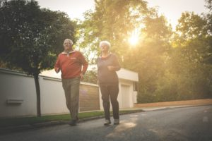 elderly jogging
