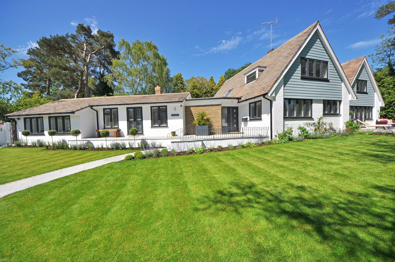 a beautiful home with a spacious lawn