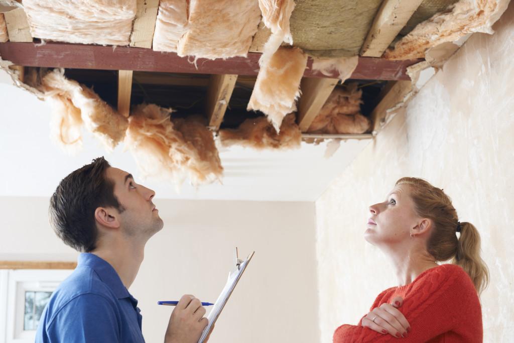 ceiling damage