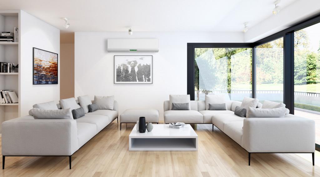 clean living room