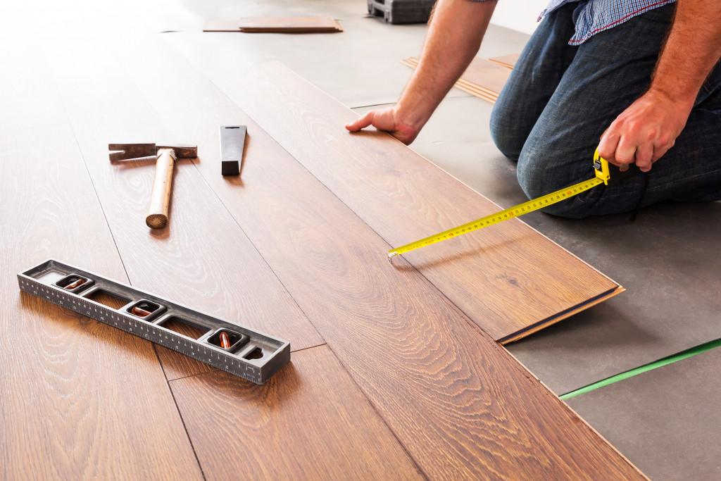 replacing floor with hardwood